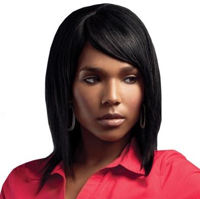 Sleek Human Hair Platinum  Wig